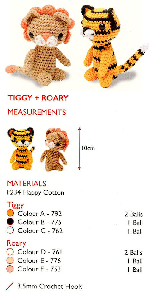 Sirdar Happy Cotton Book 1 - Tiggy & Roary