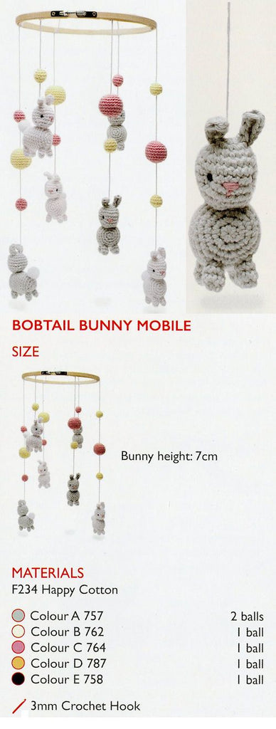Sirdar Happy Cotton Book 10 -- Bobtail Bunny Mobile