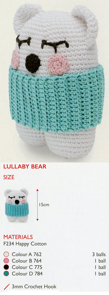Sirdar Happy Cotton Book 10 -- Lullaby Bear