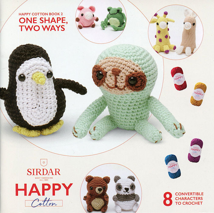 Sirdar Happy Cotton Book 2 -- One Shape, Two Ways