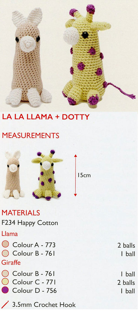 Sirdar Happy Cotton Book 2 - La La Llama & Dotty