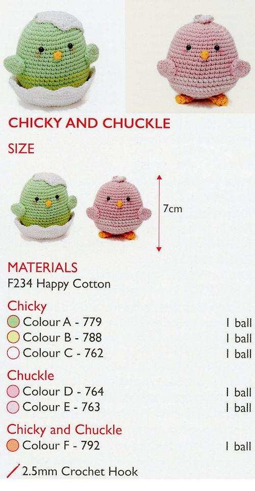 Sirdar Happy Cotton Book 3 - Chicky & Chuckle