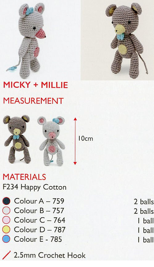 Sirdar Happy Cotton Book 4 - Micky & Millie