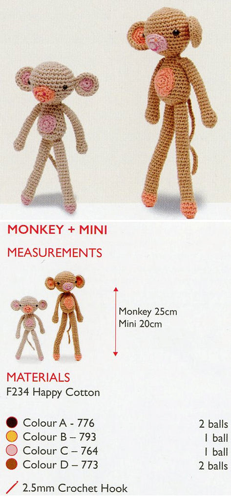 Sirdar Happy Cotton Book 4 - Monkey & Mini