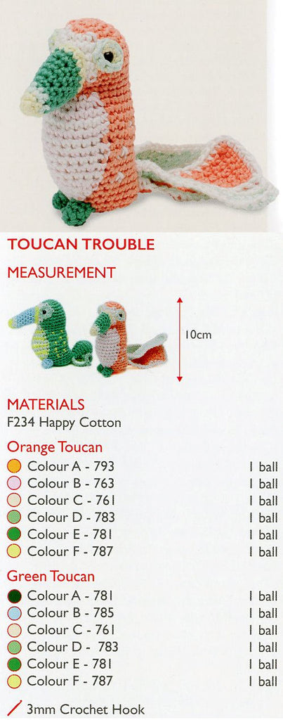 Sirdar Happy Cotton Book 4 - Toucan Trouble