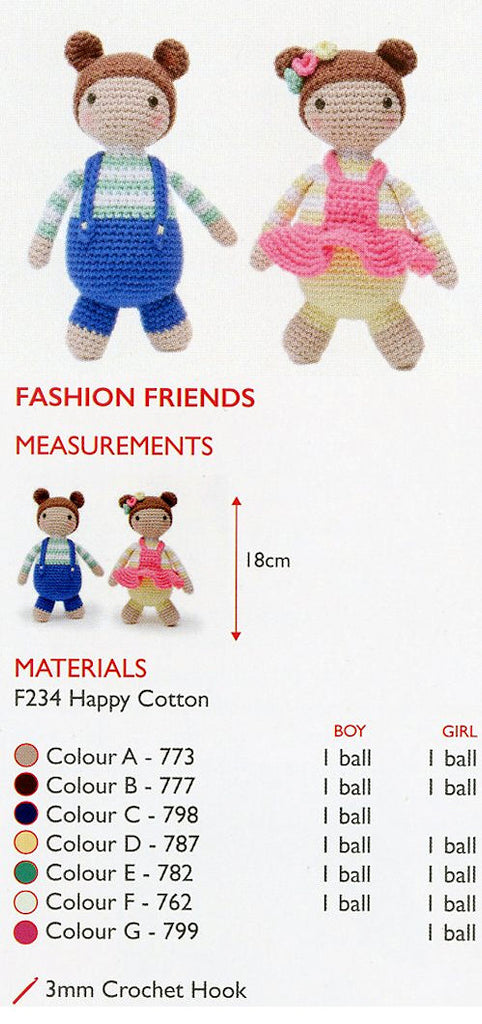 Sirdar Happy Cotton Book 5 - Fashion Friends