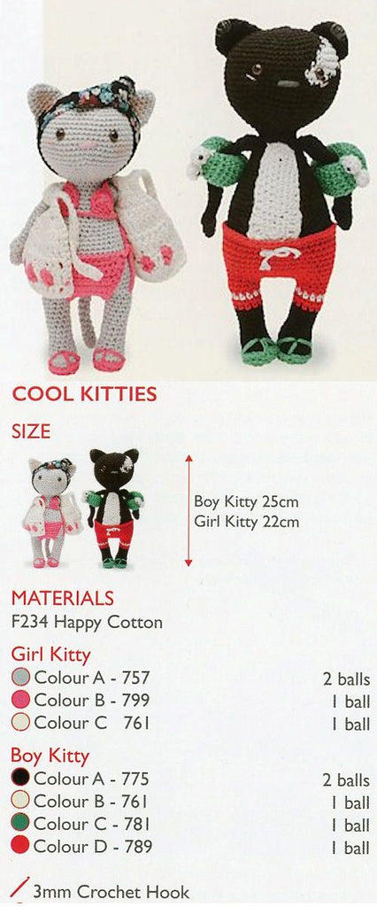 Sirdar Happy Cotton Book 6 -- Cool Kitties