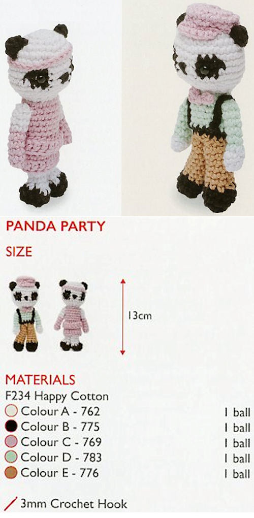 Sirdar Happy Cotton Book 6 -- Panda Party