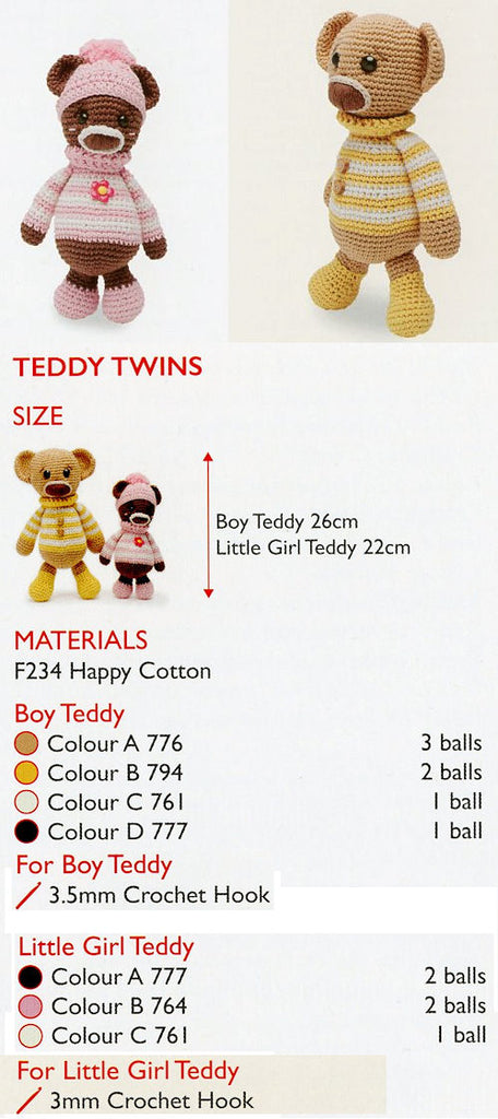 Sirdar Happy Cotton Book 6 -- Teddy Twins