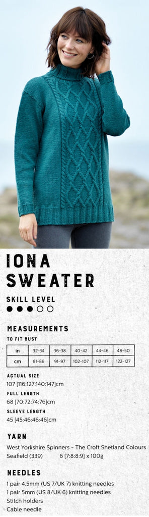 The Croft:  Shetland Colours -- Iona Sweater