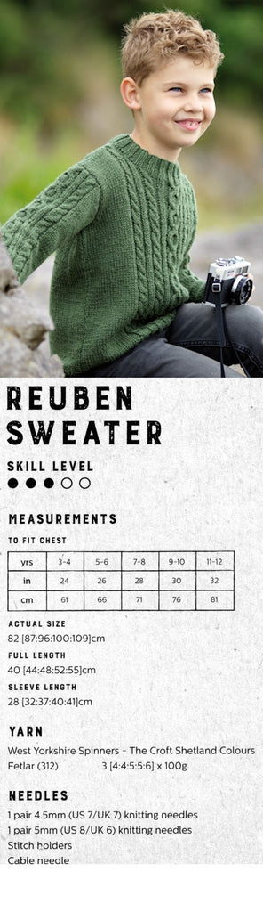 The Croft:  Shetland Colours -- Reuben Sweater