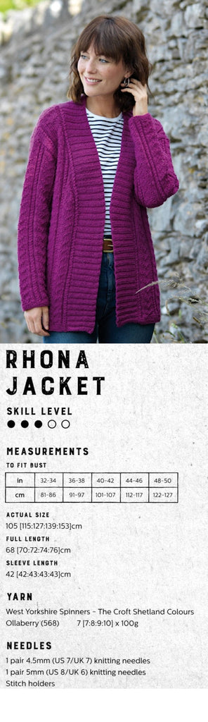 The Croft:  Shetland Colours -- Rhona Jacket