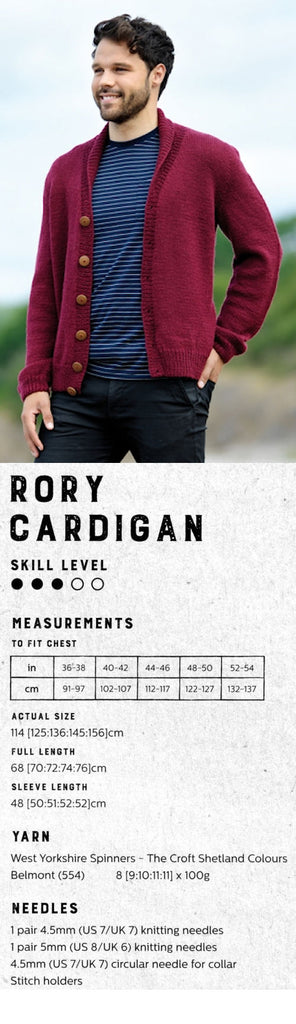 The Croft:  Shetland Colours -- Rory Cardigan