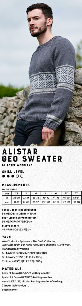 The Croft:  Shetland Country -- Alistar Geo Sweater