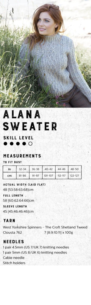 The Croft:  Shetland Tweed -- Alana Cardigan