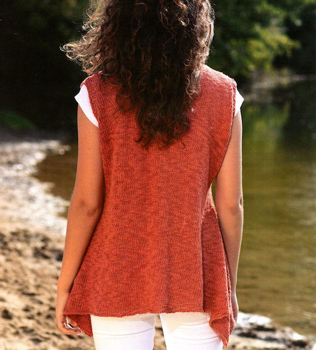 Sofia Vest Pattern Leaflet by Claudia Wersing for Juniper Moon Farm - Back
