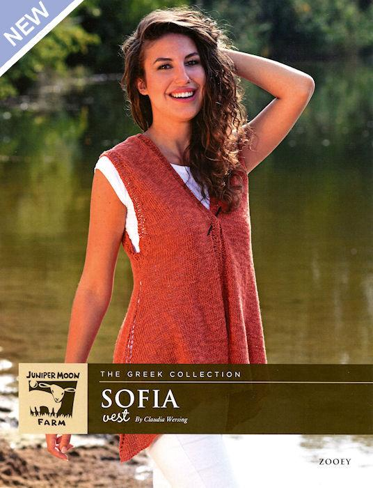 Sofia Vest Pattern Leaflet by Claudia Wersing for Juniper Moon Farm