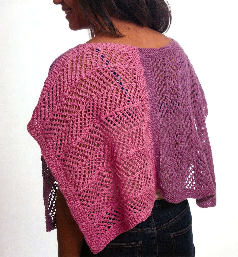 Strait of Gibraltar Poncho Pattern Leaflet by Kathleen Dames for Juniper Moon Farm - Back