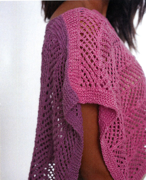 Strait of Gibraltar Poncho Pattern Leaflet by Kathleen Dames for Juniper Moon Farm - Side