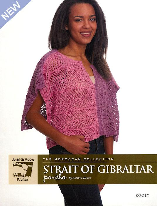 Strait of Gibraltar Poncho Pattern Leaflet by Kathleen Dames for Juniper Moon Farm
