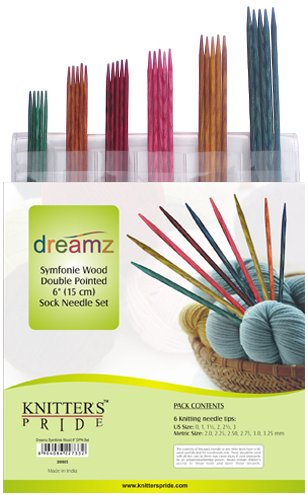 Knitter's Pride Dreamz Symfonie Wood Double Pointed Sock Needle Set
