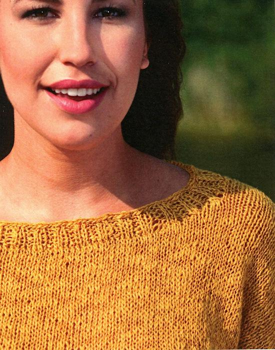 Thekla Sweater Pattern Leaflet by Claudia Wersing for Juniper Moon Farm - Detail