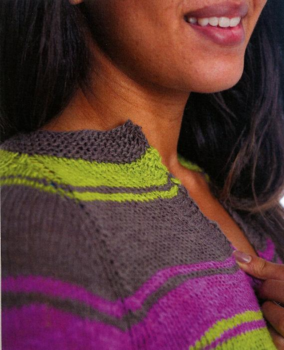 Ziz Cardigan Pattern Leaflet by Kathleen Dames for Juniper Moon Farm - Detail