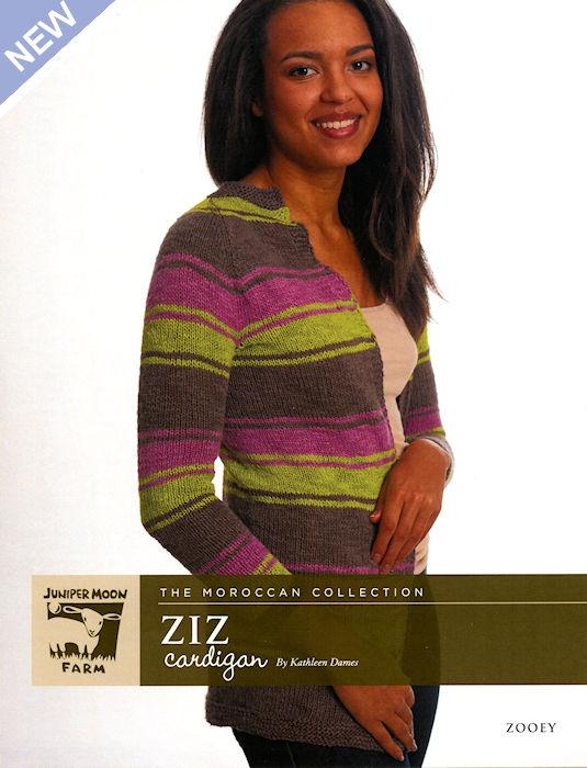 Ziz Cardigan Pattern Leaflet by Kathleen Dames for Juniper Moon Farm