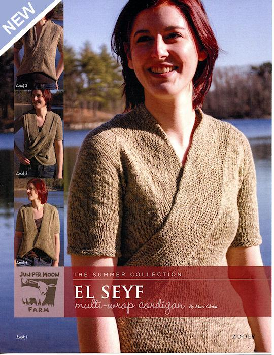 El Seyf Multi-Wrap Cardigan Pattern Leaflet by Mari Chiba for Juniper Moon Farm
