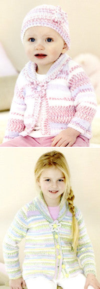 Sirdar Book 501 Cute Crofter Chums - Design 4675 Cardigan and Hat