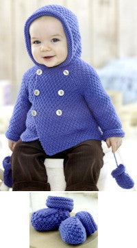 Sirdar Book 507 Snuggly Delights - Duffle Coat, Mittens, and Booties Design 4706