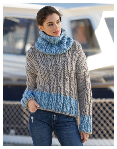 Katia Book 90 - Sport - Design 16 - Pullover & Cowl in Love Wool