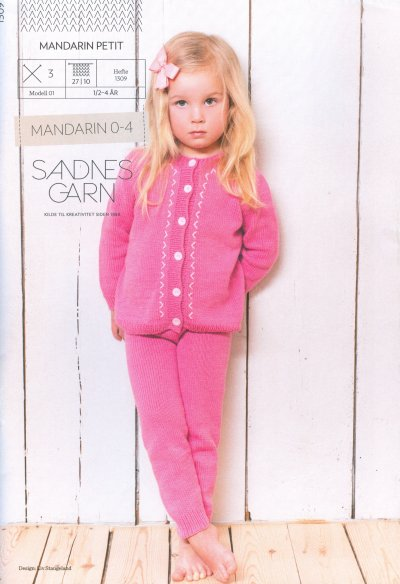 Sandnes Book 1309 - Design 1 - Jacket and Tights