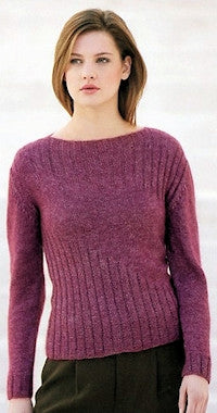 Katia No. 4 Concept - Design 10 - Ribbed & Stocking Stitch Pullover in Seta-Mohair