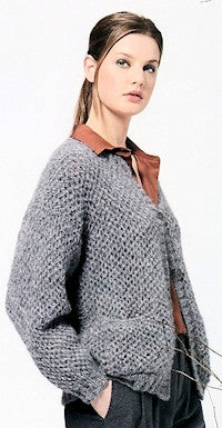 Katia No. 4 Concept - Design 16 - Textured Cardigan in Alpaca Silver
