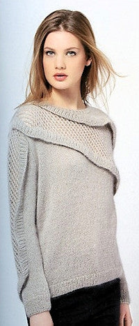 Katia No. 4 Concept - Design 24 - Pullover with Mesh and Ruffle Accents in Seta-Mohair