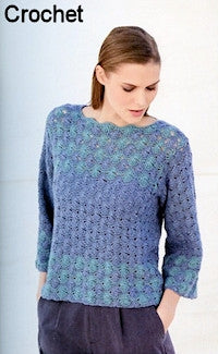 Katia No. 4 Concept - Design 37 - Crocheted Pullover in Silky Lace