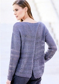 Katia No. 4 Concept - Design 41 - Long-Sleeved Pullover with Mesh Accents in Seta-Mohair - back