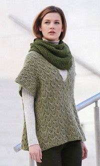 Katia No. 4 Concept - Design 47 - Cabled Poncho in Alpaca Silver