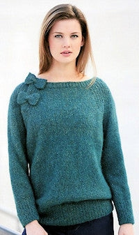 Katia No. 4 Concept - Pullover with Bow Accent in Alpaca Silver
