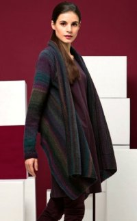 Lang Book Fatto a Mano 211 - Design 15 -Open Front Cardigan in Tosca Light