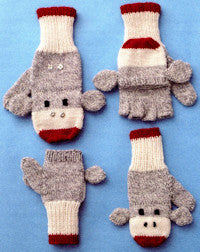 Patons Book 500889 - Monkey Around - Convertible Sock Monkey Mitts