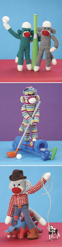 Patons Book 500889 - Monkey Around - Crochet Sock Monkeys