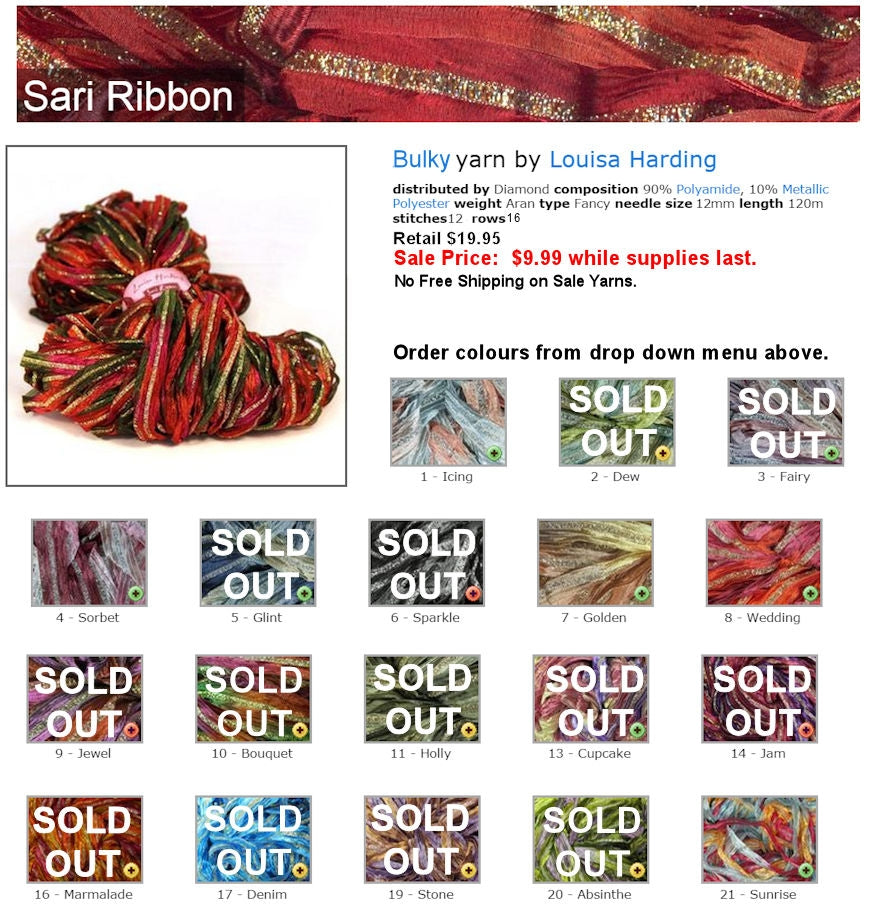 Louisa Harding Sari Ribbon - Warehouse Sale Item