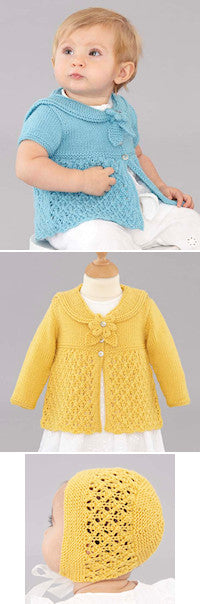 Sublime Book 710 - Designs 11, 12, & 13 - Cardigans and Bonnet