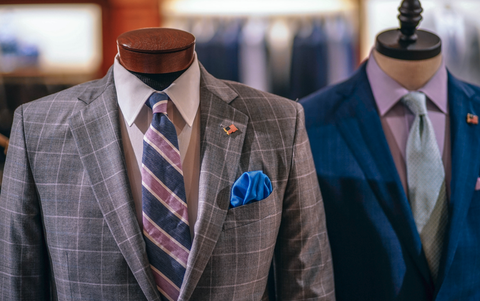 mens suits on mannequins