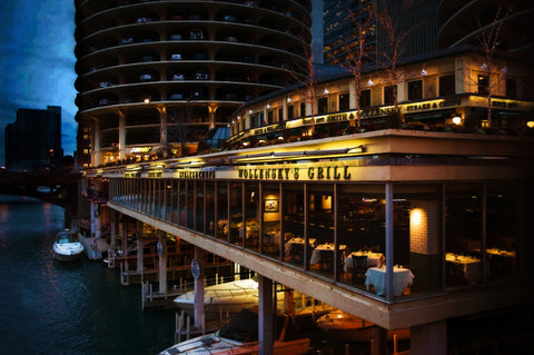 Wollensky's restaurant on Chicago Riverwalk