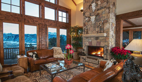 living room with view of Elk Mountain Range