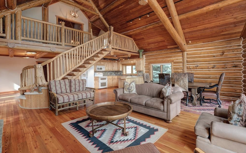 interior home in Big Sky, MT