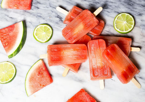 Watermelon Moscow Mule Pops